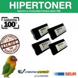 tintas y cartuchos de tinta compatibles para HP 950xl y 951xl de alta capacidad, se pueden usar en  HP Officejet Pro 251dw  HP Officejet Pro 276dw      HP Officejet Pro 8100  HP Officejet Pro 8600      HP Officejet Pro 8600 Premium HP Officejet Pro 8600 Plus all-in-one y puedes comprarlos en hipertoner.es