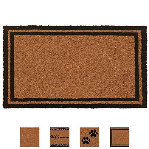 Amazon Gorilla Grip Premium Durable Coir Door Mat 30x18 Thick Heavy Duty Coco Doormat For Indoor Outdoor Easy Clean Low In 2020 Door Mat Outdoor Door Mat Coir