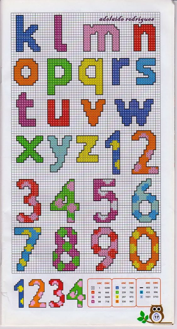 alphabet and bead patterns on