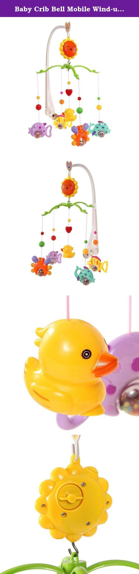 Best crib toys your baby - Baby Crib Bell Mobile Wind Up Music Box Cute Bed Toy Cartoon Gift Nursery