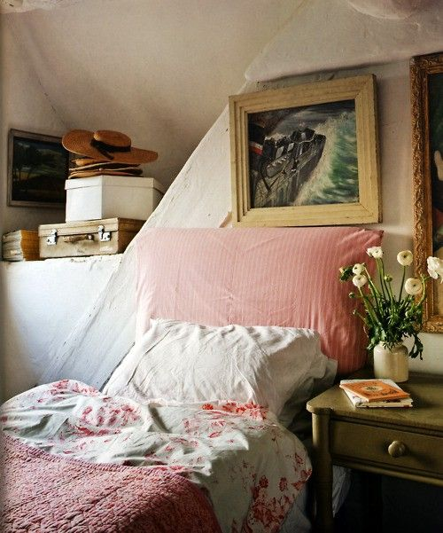 Tiny cottage bedroom