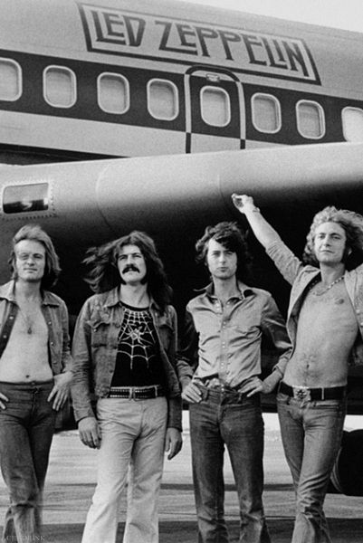 Led Zeppelin and the Starship. I can't ever pick a favorite Zeppelin song. Whichever one I'm listening to at the moment is my all-time favorite, hands down!