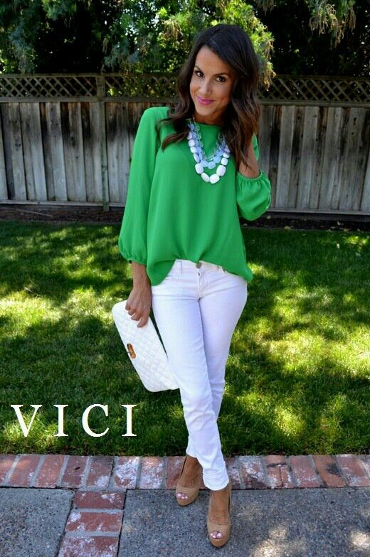Green, white, and nude shoes