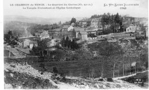 """""""Justes parmi les Nations"""" Le plateau du Chambon sur Lignon vue sur le Temple et l'Eglise."""