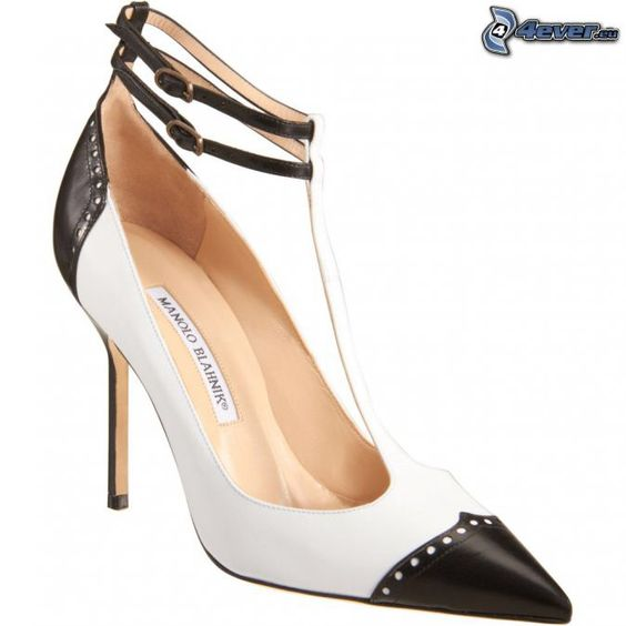 manolo blahnik black white shoes