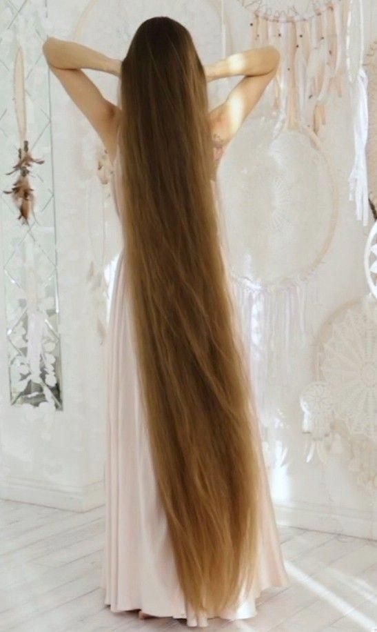 Video A Dream Realrapunzels Longhairupdo Long Thin Hair Extremely Long Hair Long Hair Styles