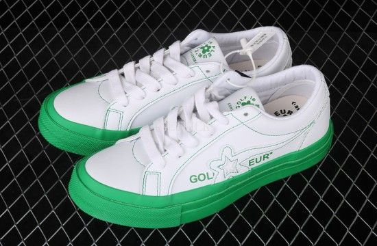 Converse Golf Le Fleur Colourblock One Star Ox Kelly Green 164025c In 2020 Golf Le Fleur Shoes White Golf Shoes Sneakers