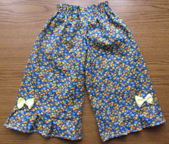 Ruffle toddler pants Toddler pants Floral by naturalbabydresses