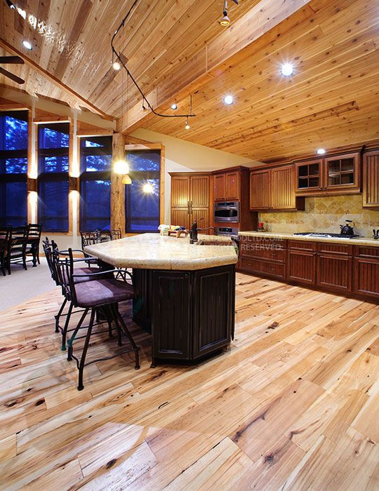 Reclaimed Hickory Flooring | Wide Plank Hickory | Olde Wood