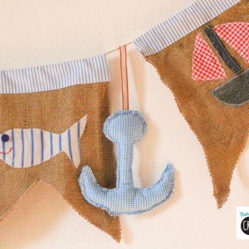 Cucito creativo: la ghirlanda estiva di Chiara