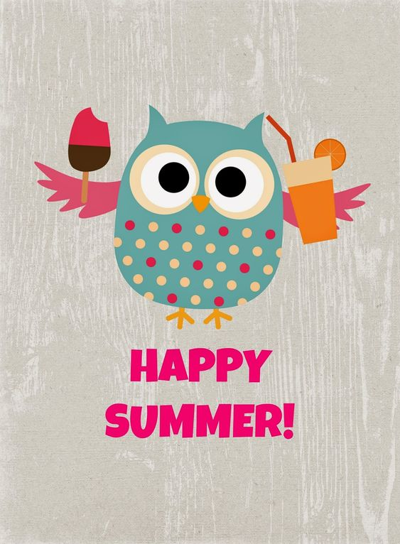 Free Summer Owl Printables from Glued to My Crafts: