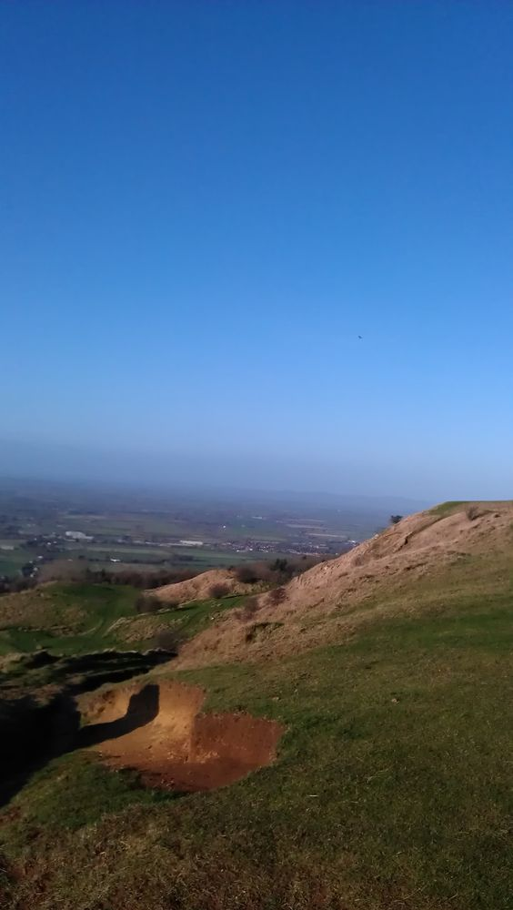 Cleeve Hill, Cheltenham in December - a filming site for an episode of Sherlock