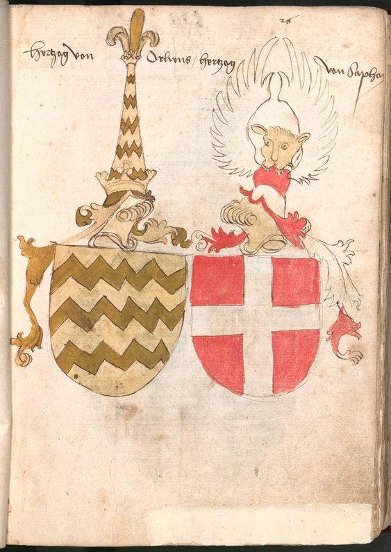 Wernigeroder (Schaffhausensches) Wappenbuch Süddeutschland, 4. Viertel 15. Jh. Cod.icon. 308 n  Folio 26r