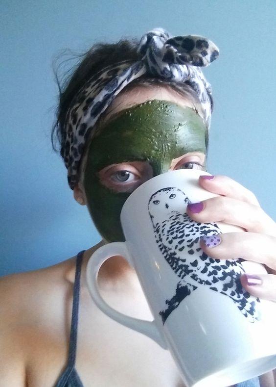 Matcha green tea face mask diy recipe