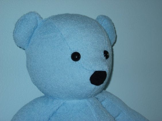 Teddy Bear Blue Terry Cloth Baby Boy Girl Shower Gift by DoOver