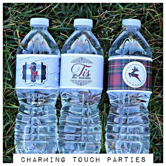 Holiday/Winter/Christmas party water by CharmingTouchParties