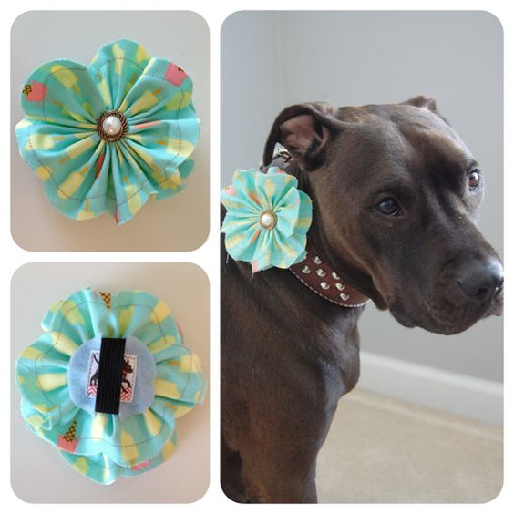 Ice Cream Fabric Flower (A percentage of the proceeds goes to pit bull rescues)