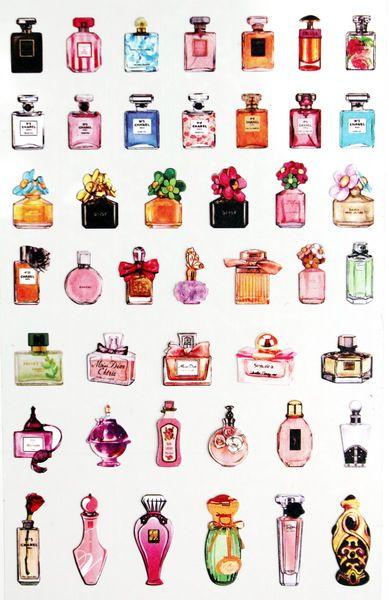 Daisyland Sticker ★ PARFUM ★ PERFUME BOTTLE ★ von GlückMich auf DaWanda.com: