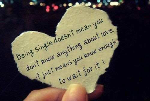 Being single doesn't mean you don't know anything about love...