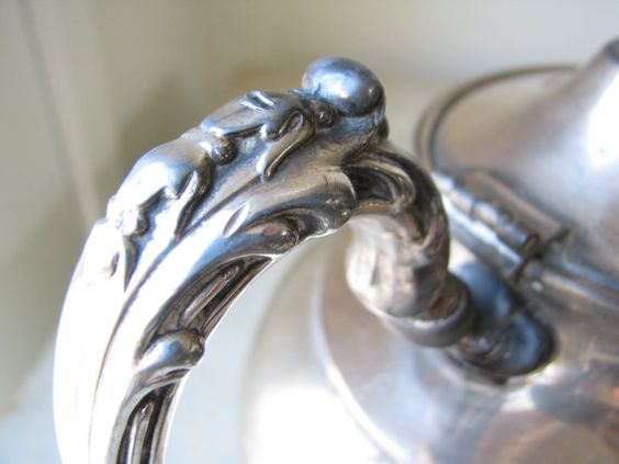 Vintage Silver Teapot by BlackberryMemories on Etsy