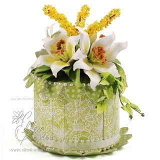 EASTER Lily Cake box w/tutorial