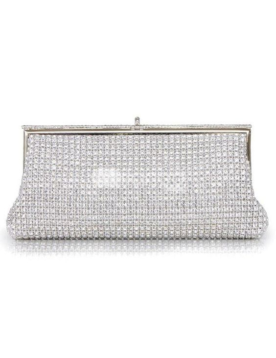 Silver Glitter Silk Evening Bag for Women. Silver Glitter Silk Evening Bag for Women. See More Evening Bags at http://www.ourgreatshop.com/Evening-Bags-C769.aspx