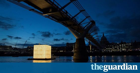 What we left behind: North Korean refugee drawings lit up on the Thames http://lnk.al/2BzO