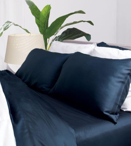 Aloha Soft Bamboo Sheets Midnight Blue In 2020 Bamboo