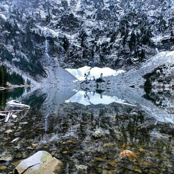 Elevation Gain Stone Mountain Hike : Lake north cascades mountain loop highway