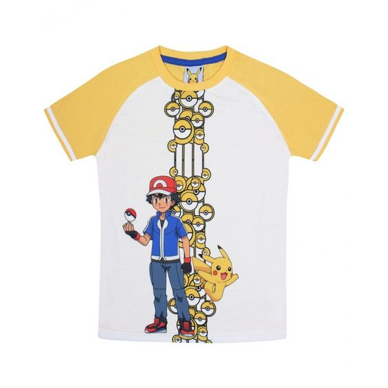 Jazzup Pokemon Yellow T-Shirt For Boys
