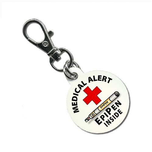 Medical Alert EPIPEN INSIDE 1.25 inch Aluminum Core Dog Tag 1-Sided Creative Clam