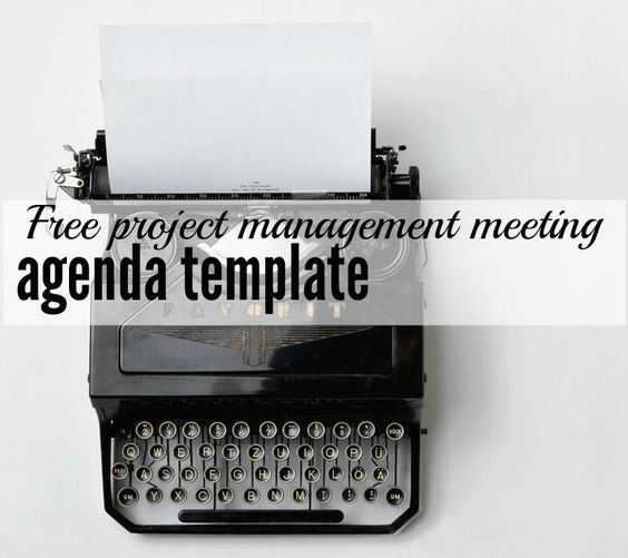 Free Project Management Agenda Template Oficina, Projetos e - meetings template