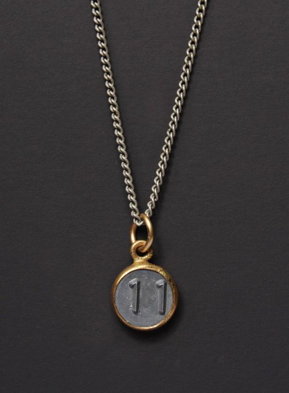 Mens Necklace Number 11 Necklace Numerology Personalized Men Jewelry Man Jewelry Number Ele Fashion Bracelets Jewelry Mens Jewelry Silver Chain For Men