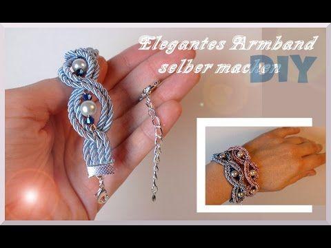 In dieser Anleitung zeige ich euch, wie ihr im Handumdrehen ein wunderschönes elegantes Armband herstellen könnt. Kordel: Tedi Perlen, Klemmbleche, Verschlus...