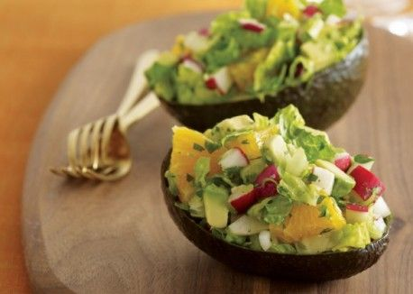 Guacamole Reinvented - Serve this guacamole salad in halved avocado skins for a fun appetizer