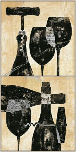 """Wine Print Art - """"Wine Selection"""" I&II by Daphne Brissonnet on AllPosters.com"""