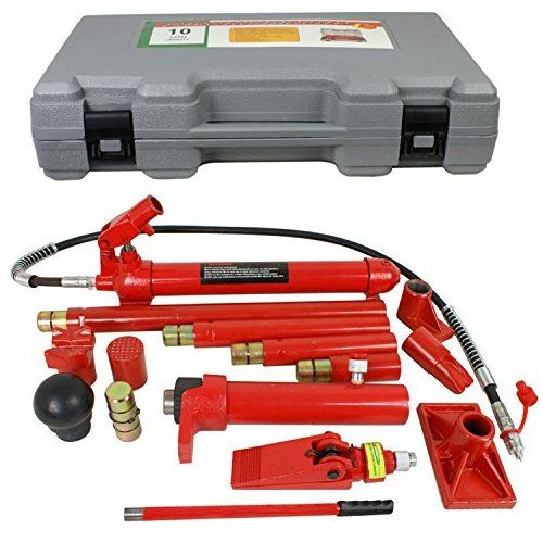 F2c 10 Ton Capacity Porta Power Hydraulic Bottle Jack Ram Pump Frame Repair Tool Kit Power Set Auto Tool For Auto Body Repair Auto Body Auto Body Repair Shops