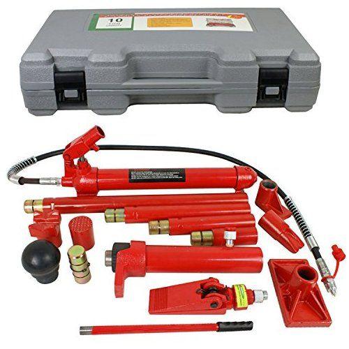 F2c 10 Ton Capacity Porta Power Hydraulic Bottle Jack Ram Pump Frame Repair Tool Kit Power Set Auto Tool For Auto Body Repair Auto Body Auto Body Repair Shops