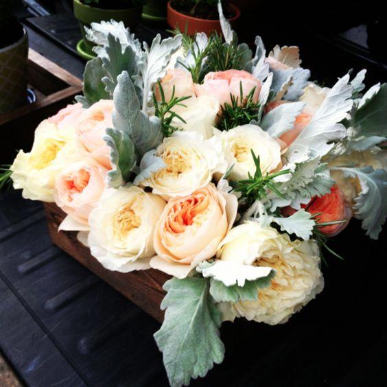 Simplicity Katie, Elegance Simplicity, Roses Dusty, Peonies Roses,  Inspiration Board Estera, Example Peach, Wood Elegance, Miller Rosemary,  Florist Roses - Washington-dc-wedding-flowers-florist-roses-dusty-miller-rosemary
