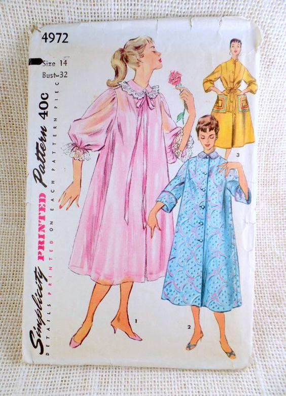 Vintage 1950s Dress Pattern Simplicity by momandpopcultureshop