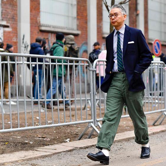 Robert SpangleさんはInstagramを利用しています:「Milan...Takehiro Kinoshita who legend has it doesn't use a cell phone #man & #style #menswear #streetstyle #prep #popeye」