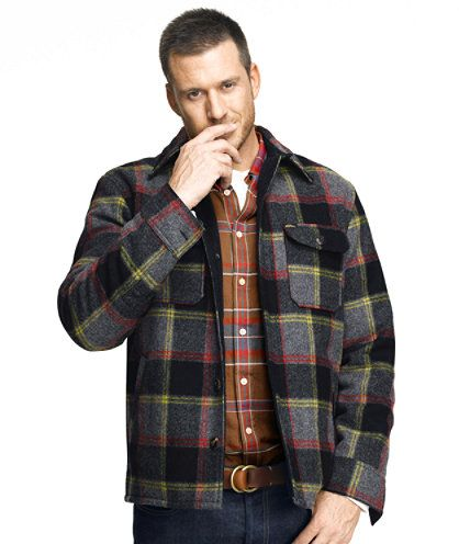 Lined Wool Blend Shirt Jacket: SHIRTS | Free Shipping at L.L.Bean ...