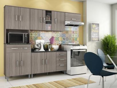 Cozinha Compacta Poliman Móveis Inovare Vitória - 8 Portas 1 Gaveta + Balcão 3 Portas 2 Gavetas com as melhores condições você encontra no Magazine Tiozao007. Confira!