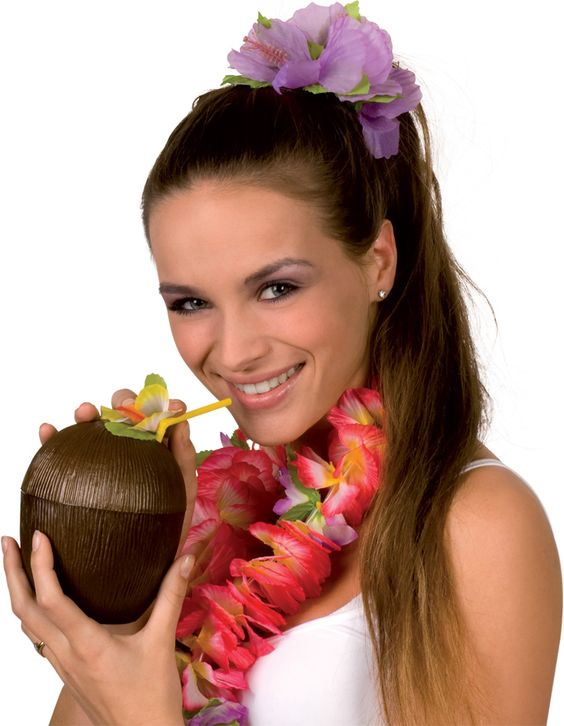 Noix de coco Hawaï : Deguise-toi, achat de Decoration / Animation