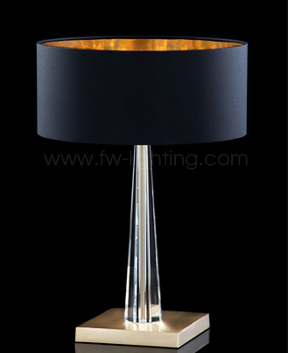 Aiardini table lamp, Flavia. Satin brass frame with drum fabric shade and Venetian glass. 204(B)-LTA-1L