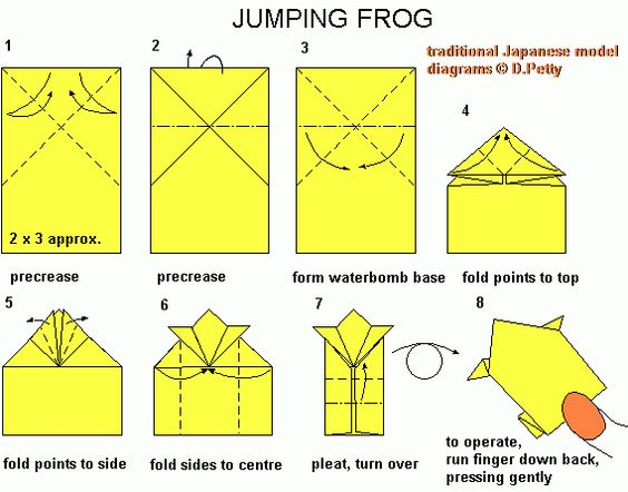 origami jumping frog instructions printable