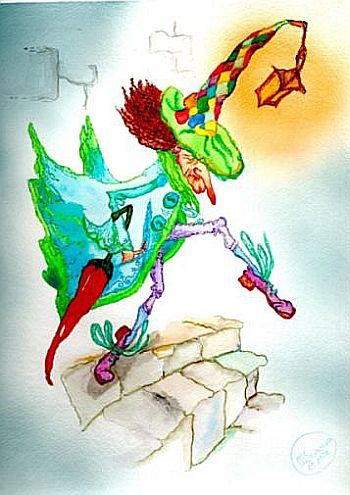 """Dwarf Nose"" original watercolor illustration from artist Marina Sciascia (USA)"