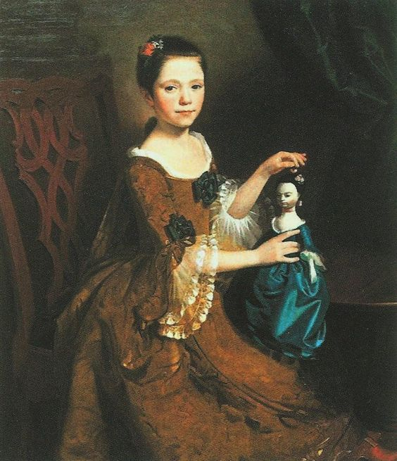 portrait of a young girl with her doll 1765