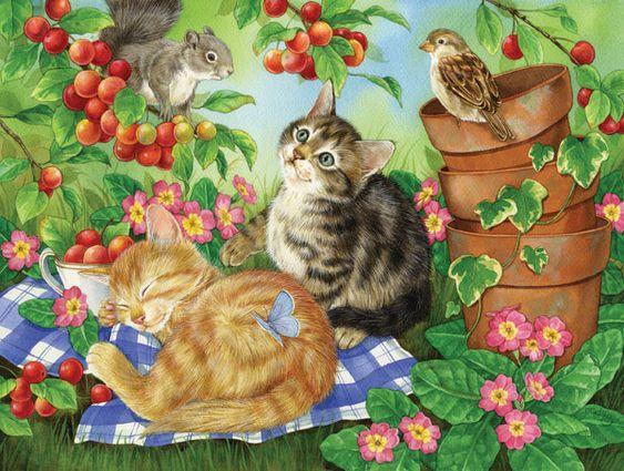 Under the Cherry Tree Baby Animals Jigsaw Puzzle