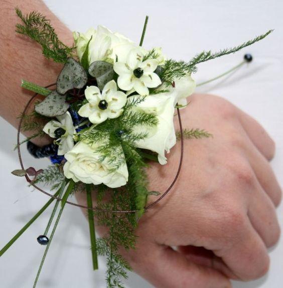Wrist corsage - Bride flower work~ Laura Groen